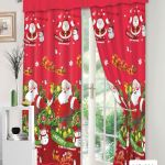 Christmas Curtains On Sale 3 In 1 Set Curtains For Window Christmas Curtains On Sale Curtain Curtains Set Sale Living Room Curtain Plain Color Curtains For Window Sale Elegant Christmas Curtain Red