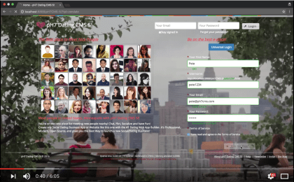 Web Dating Builder - User Area - Overview