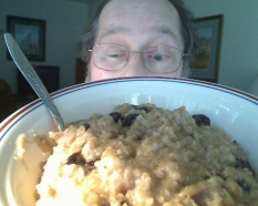Nom! Nom! I love my oatmeal!