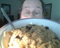 Nom! Nom! I love my oatmeal!