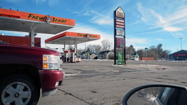 Four blocks away from where I buy gas, this mini-mart sells gasoline for less.