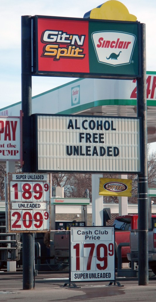 And it is the price winner fro my town since you get a 10¢ a gallon break for paying cash. That's why you Git N Split: you are robbing the owner every time you pump gasoline into your car! :)