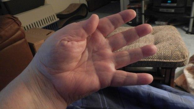 Dang! Now my hand's cramping!