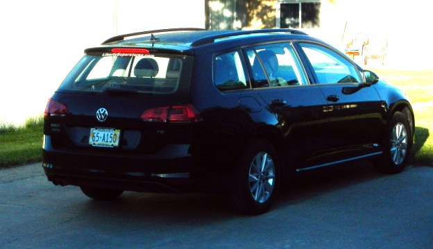My new VW Golf Sportwagen S. It's been lots of fun and the benefits perceived proved out.