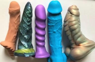 Soft silicone dildos Fuze Ten, Xenocat Artifacts, Tantus Super Soft, ColourSoft, Bad Dragon