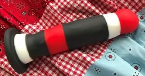 Blush Novelties Avant D5 Sin City Silicone Dildo plaid pattern full