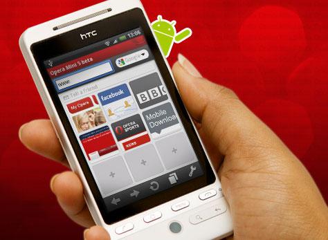 operamini5 android - Opera Mini Beta 5 para celulares Android