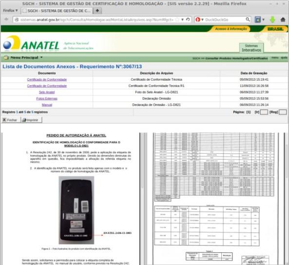 Nexus 5 Brazil Anatel filing