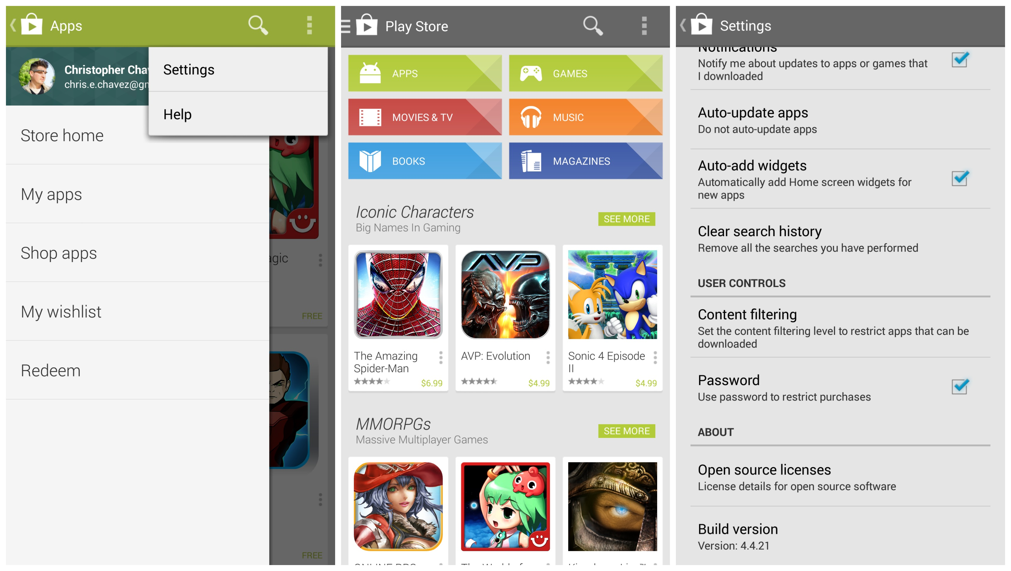 play store 4.4 kitkat