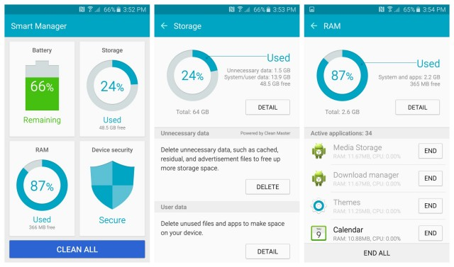 S6 Smart Manager Galaxy Samsung app