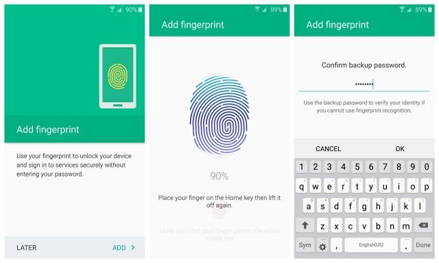 Installazione di impronte digitali Samsung Galaxy S6