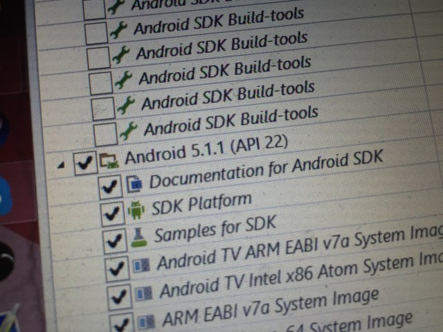 android 5 1 1 sdk manager Android 5.1.1 aparece no gestor SDK Android image