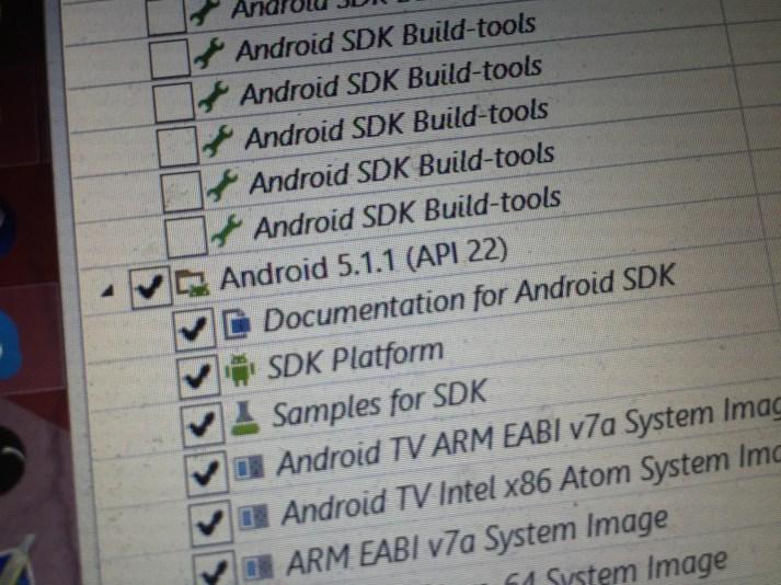 Android 5.1.1 aparece no gestor SDK Android 1