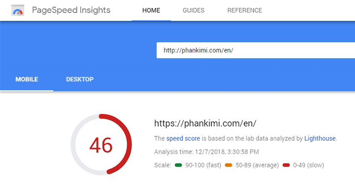 optimize pagespeed insights score for mobile
