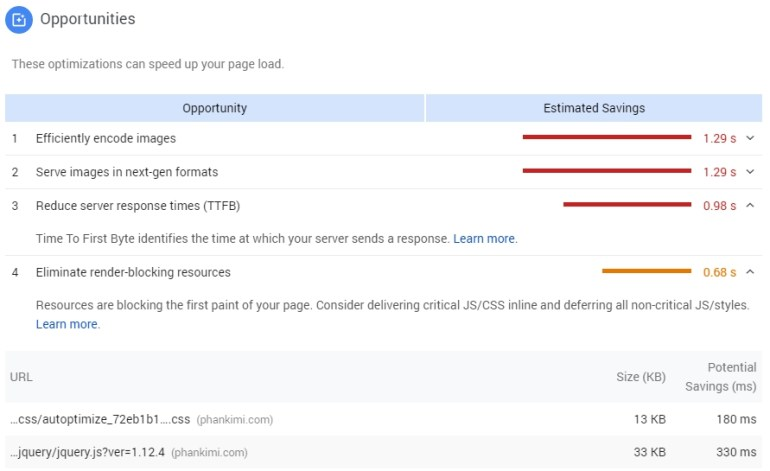 eliminate render blocking for pagespeed insights