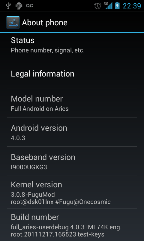 Android ICS 4.0.3 RC1 by Onecosmic Installation Tutorial for SGS GT I9000 (1/2)