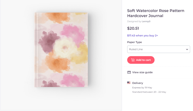 Soft watercolor rose painting