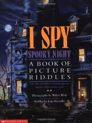The cover to Scholastic's I Spy Spooky Night book