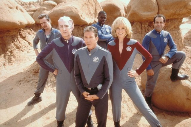 The cast of Galaxy Quest (1999).