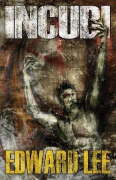 """""""Incubi"""" cover with an impressionist image of a demon painted in grays, reds, and browns."""