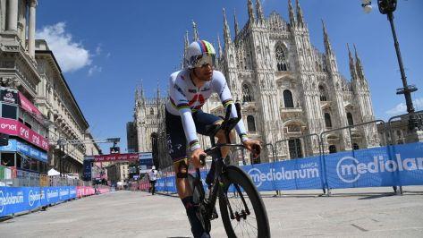 Filippo Ganna, este domingo en Milán
