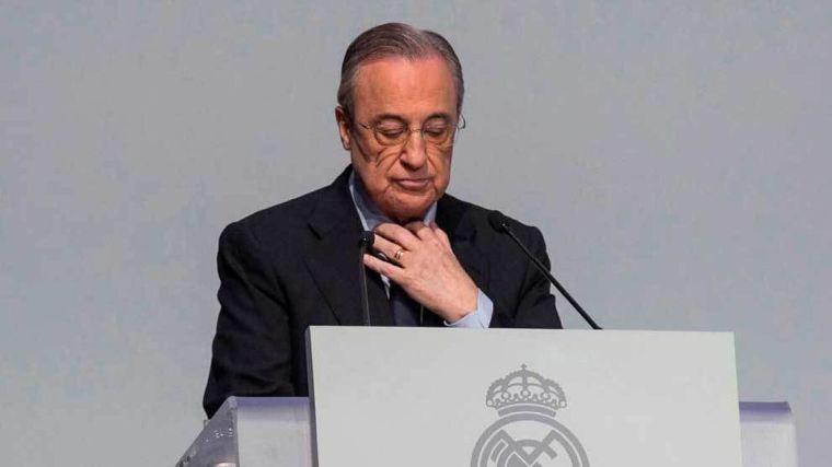 Florentino Pérez, presidente del Real Madrid y de la Superliga...