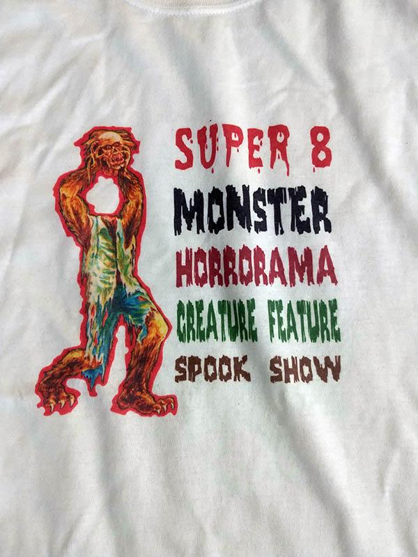 Super 8 Monster Horrorama Creature Feature Spook Show T SHIRT (XL)