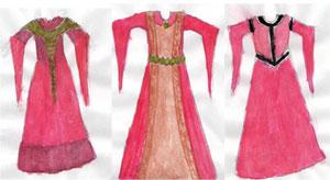 Alyah's costume designs