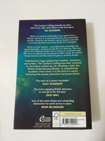 I prefer this book jacket and blurb.