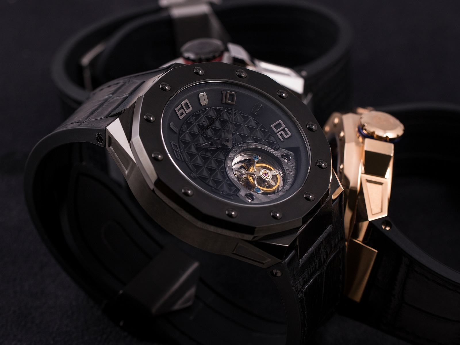 Phantoms Dark Matter Shield Flying Tourbillon Mechanical Watch