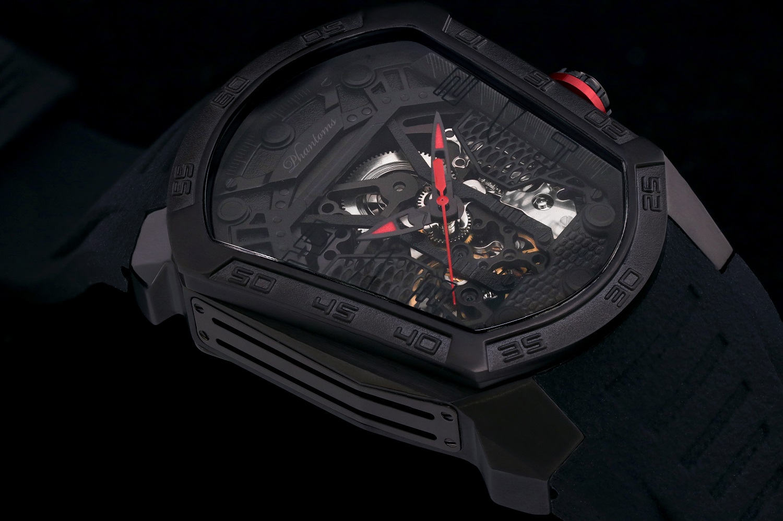 Dark Blade Futuristic Mechanical Skeleton Watch