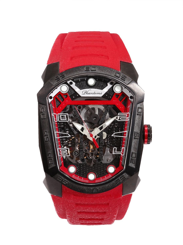 Ember Blade Futuristic Mechanical Skeleton Watch