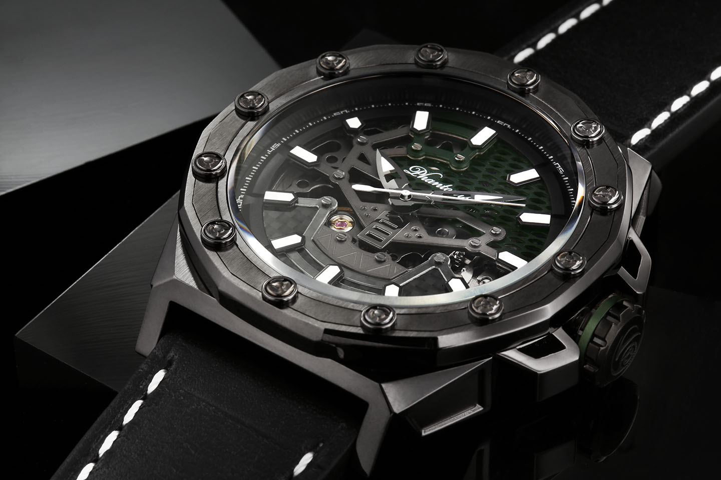 PHTW504-01 phantoms gravedigger boneyard automatic skeleton watch