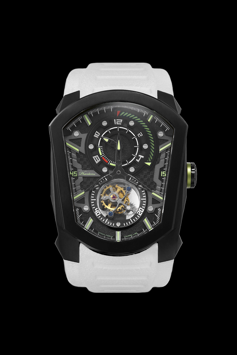 cosmic speedforce mechanical watch white automatic watch phantoms tourbillon white strap