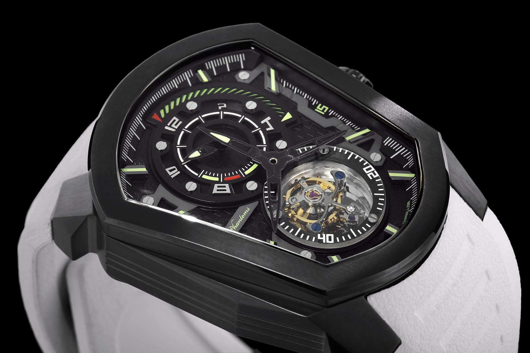 cosmic speedforce mechanical watch white automatic watch phantoms tourbillon white strap