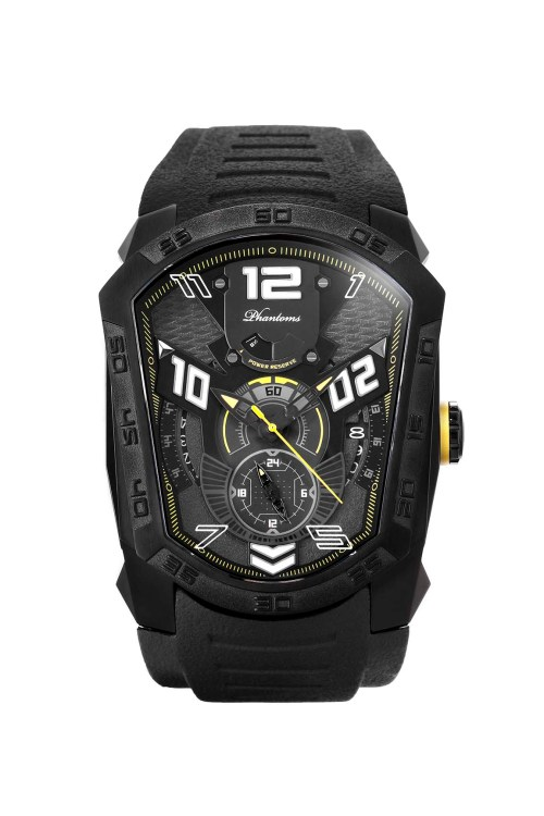 Sparklic Laser Series Japanese Miyota Automatic Watch, Phantoms Watch Tourbillon, Sporty Mechanical Watch For Men