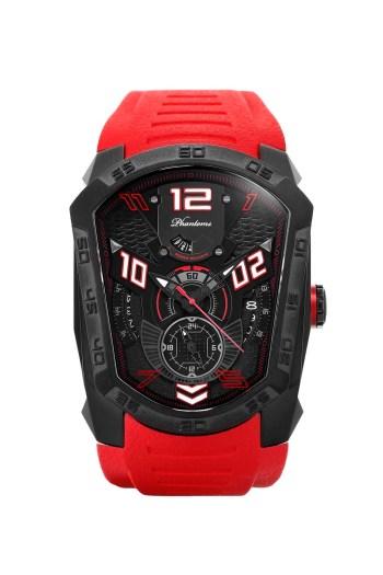 Flaming Laser Series Japanese Miyota Automatic Watch, Phantoms Watch Tourbillon, Sporty Mechanical Watch For Men