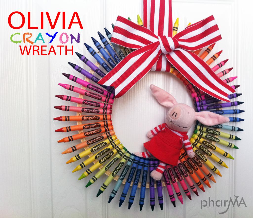 DIY Olivia Crayon Wreath