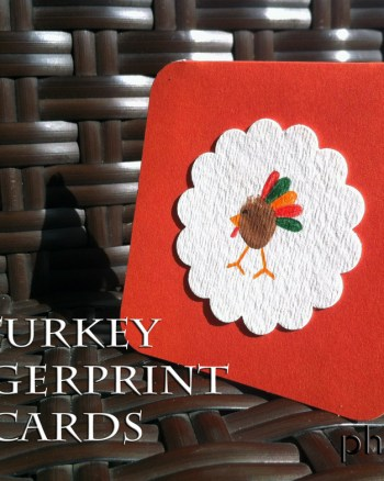 Tiny Turkey Fingerprint Cards