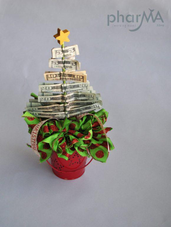 DIY Christmas Gifts, Christmas Tree made of Money