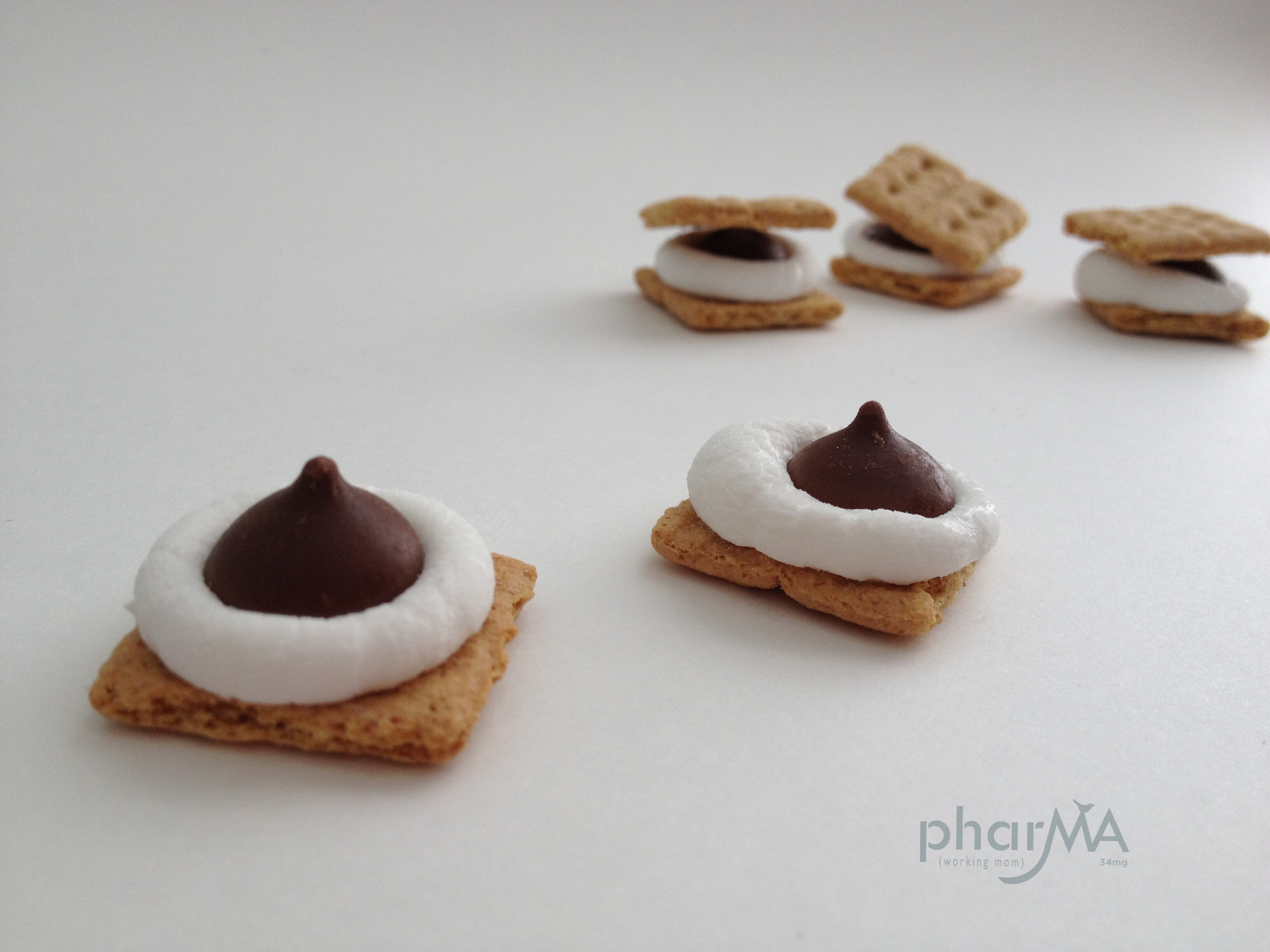 easy to make mini microwave s'mores