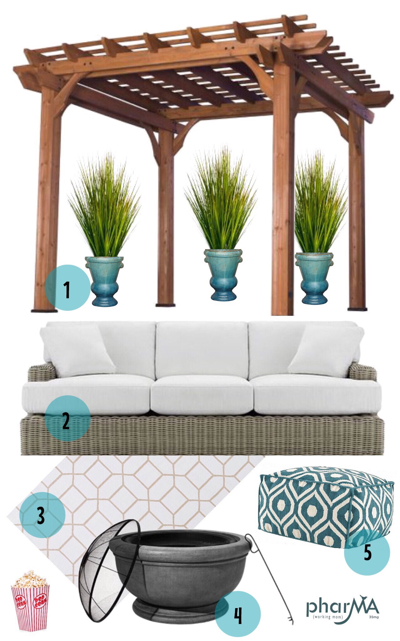 Arhaus Outdoor Retreat, outdoor movie theater, outdoor patio, arhaus, the PharMA and Arhaus, Wyatt sofa