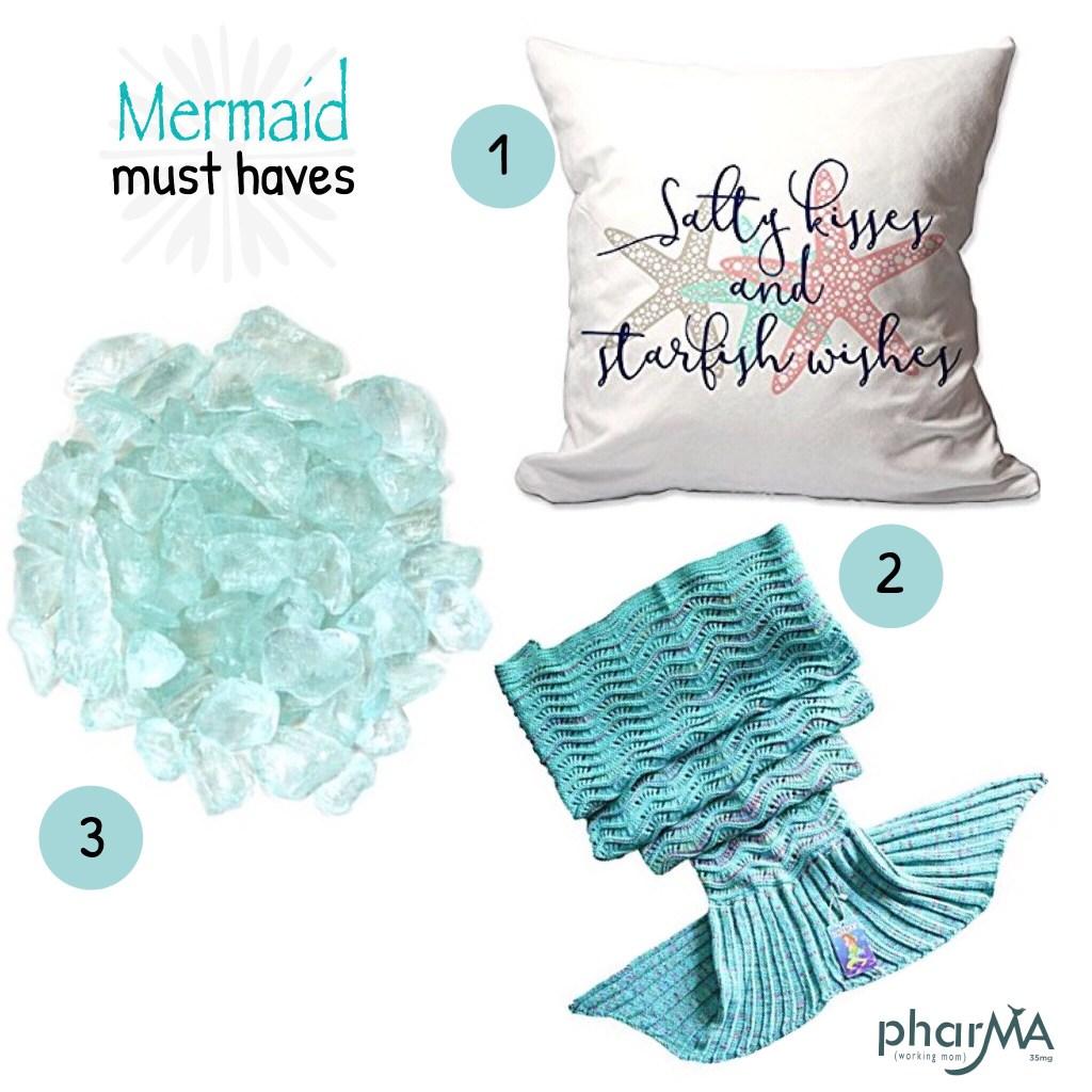 Mermaid inspired Florida room decor, mermaid style, Florida room ideas, mermaid blanket