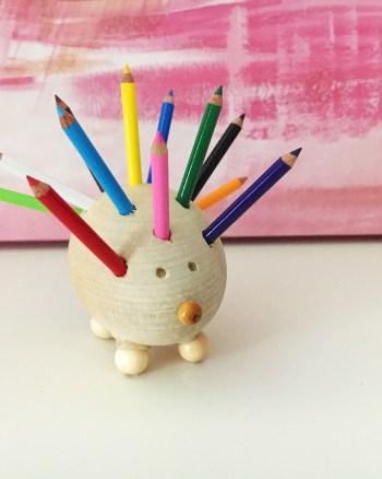 Hedgehog Crafts, DIY Hedgehog Pencil Holder, Cute Mini Pencil Holder, Hedgehog Lovers