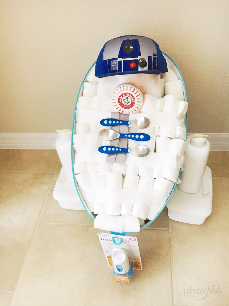 How to make an R2D2 Diaper Cake