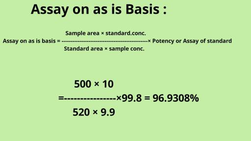 Assay on as is basis