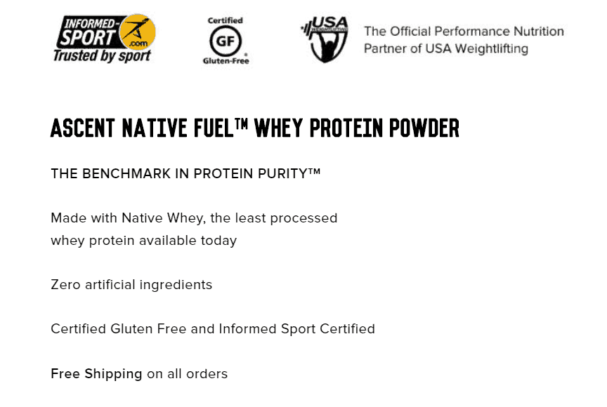 Ascent Protein Stats