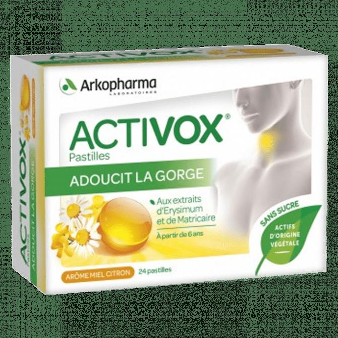 activox - pastilles gout miel-citron pour adoucir la gorge - pharmacie charlet