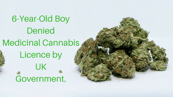 6-Year-Old Boy Denied Medicinal Cannabis Licence by UK Government.