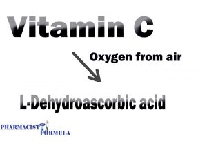 vitamin c hydrolysis and oxidation